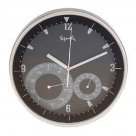Ρολόι Τοίχου Marva Black ΥΡ7162020