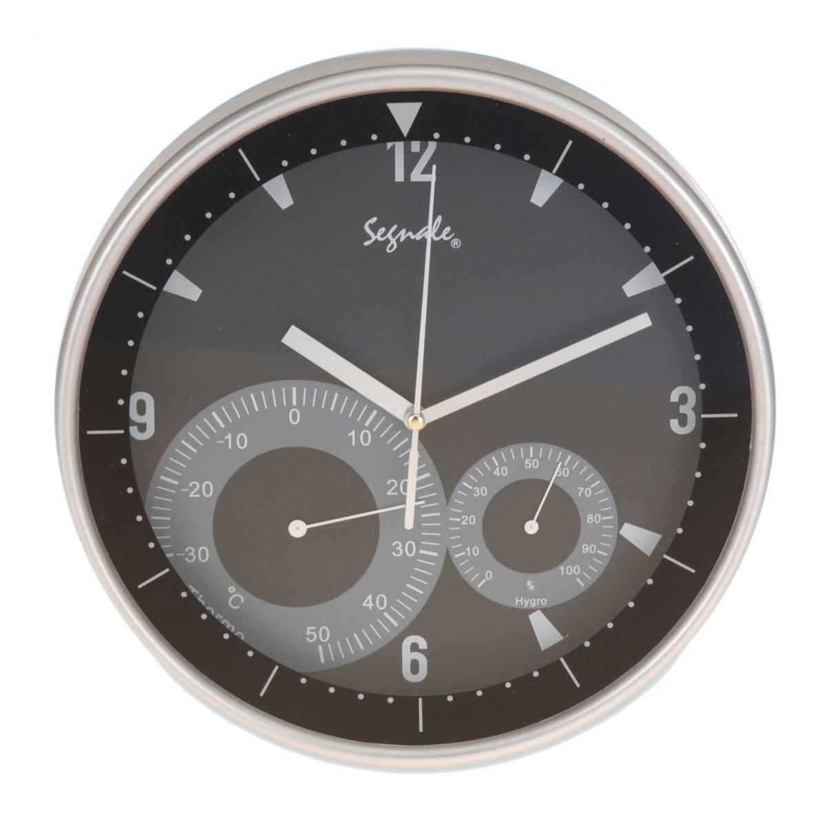Ρολόι Τοίχου Marva Black ΥΡ7162020 85942