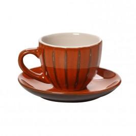 Φλυτζάνι Καφέ + Πιατάκι Espiel Orange KUP109K6