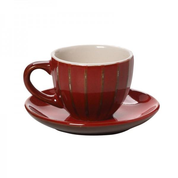 Φλυτζάνι Καφέ + Πιατάκι Espiel Red KUP111K6