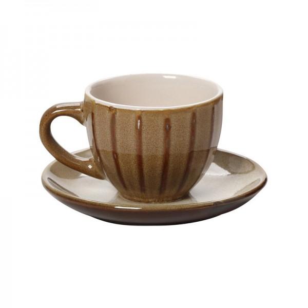 Φλυτζάνι Καφέ + Πιατάκι Espiel Beige KUP112K6