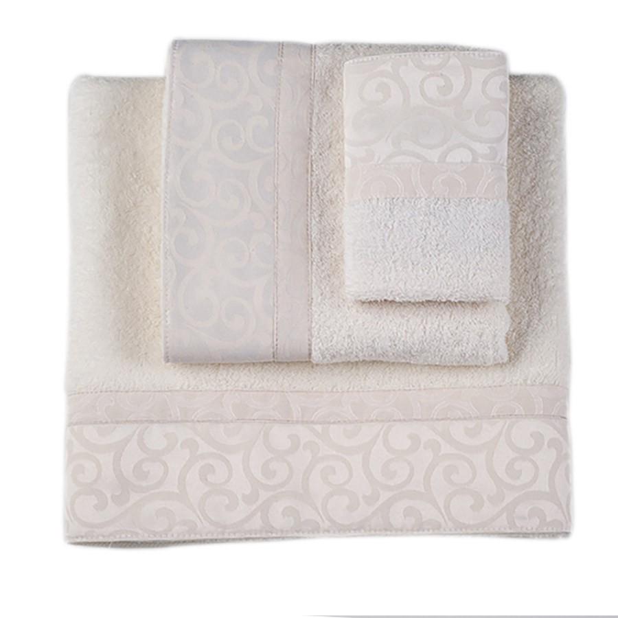 Πετσέτες Μπάνιου (Σετ 3τμχ) Omega Home Des 102