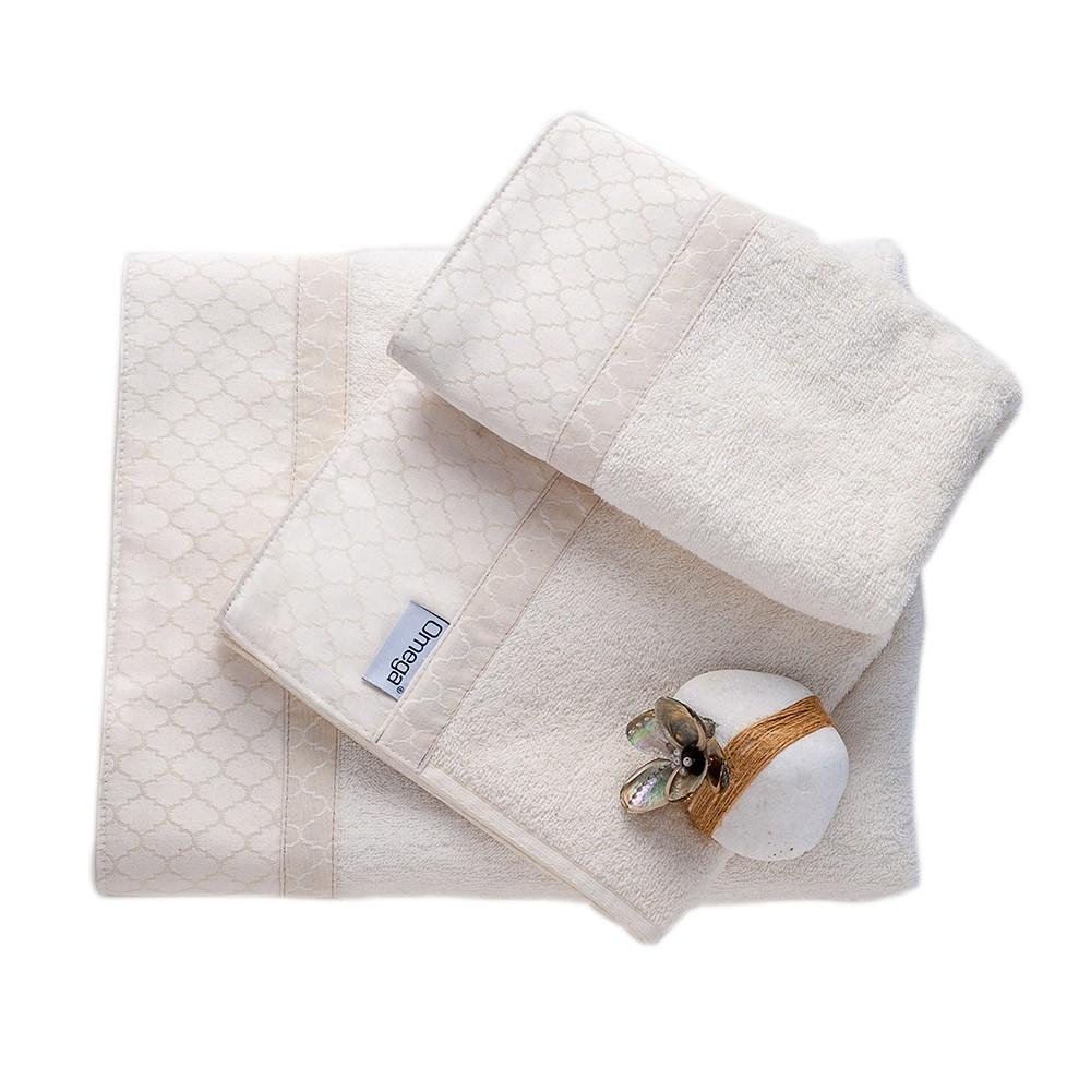 Πετσέτες Μπάνιου (Σετ 3τμχ) Omega Home Des 103