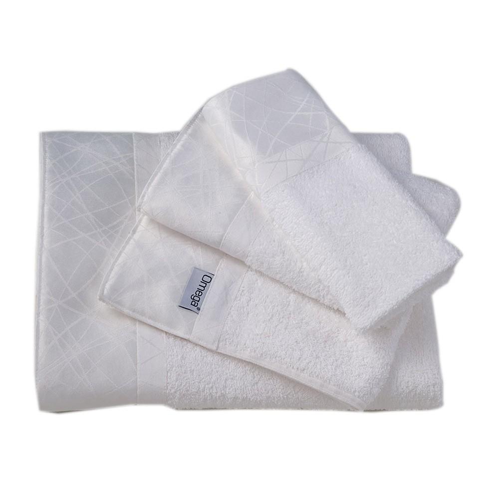 Πετσέτες Μπάνιου (Σετ 3τμχ) Omega Home Des 111