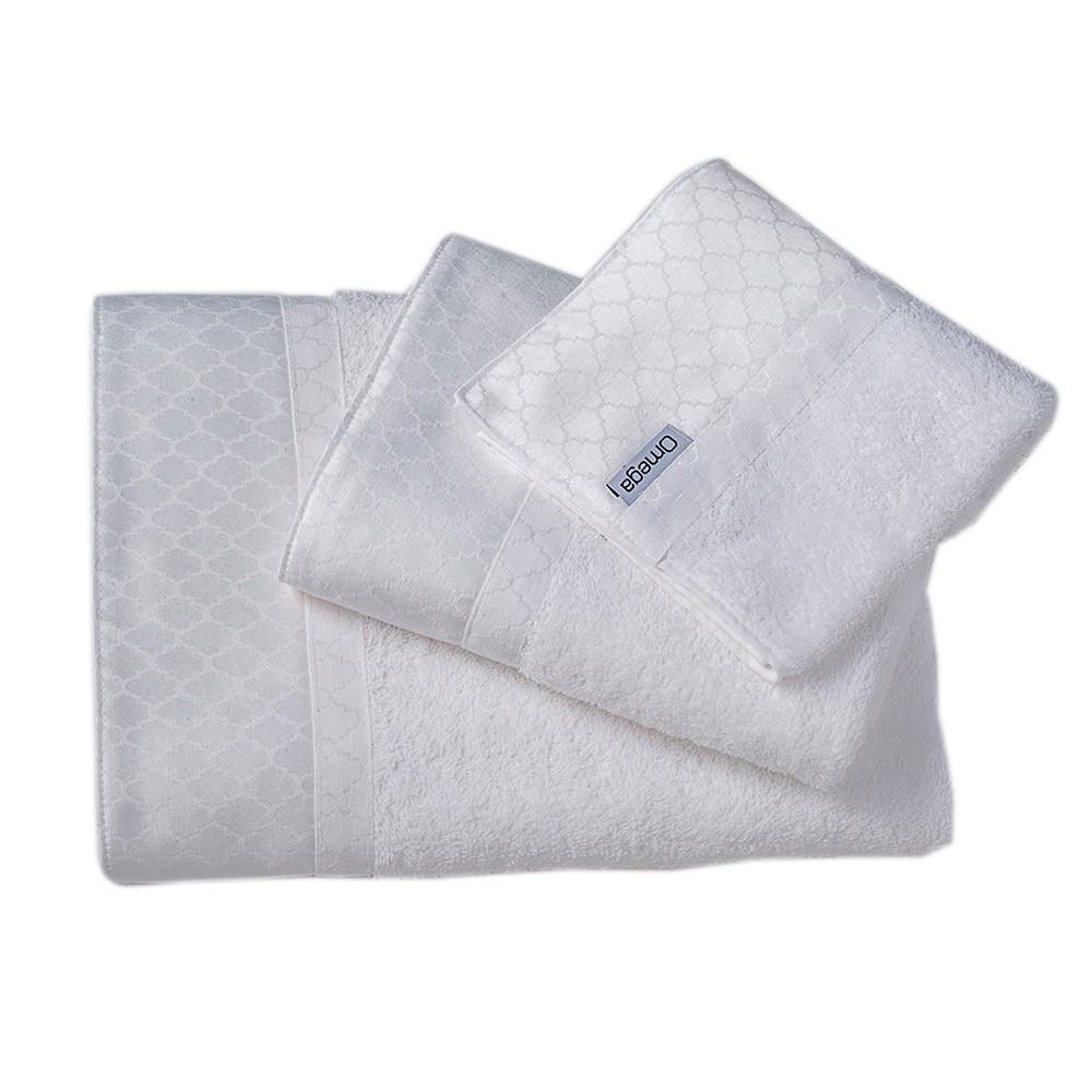 Πετσέτες Μπάνιου (Σετ 3τμχ) Omega Home Des 113