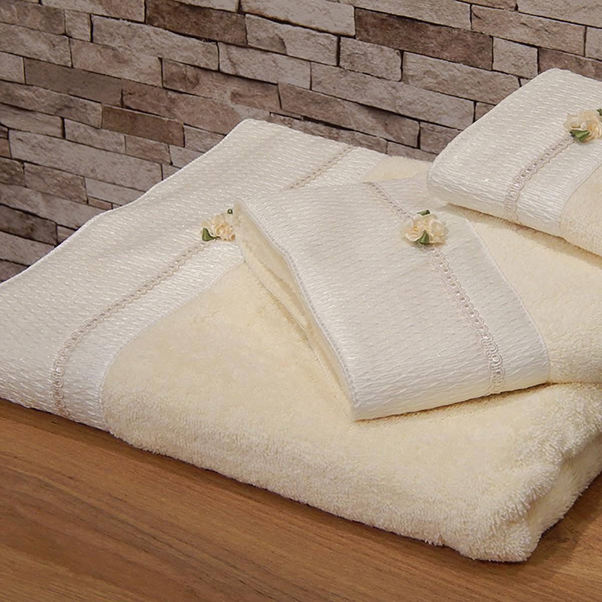 Πετσέτες Μπάνιου (Σετ 3τμχ) Omega Home Des 164