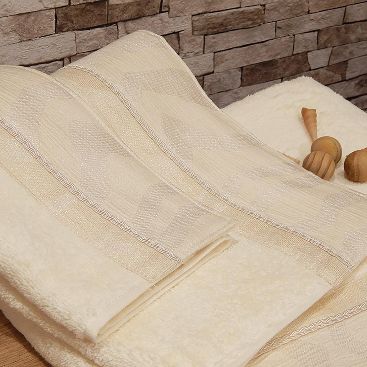 Πετσέτες Μπάνιου (Σετ 3τμχ) Omega Home Des 165