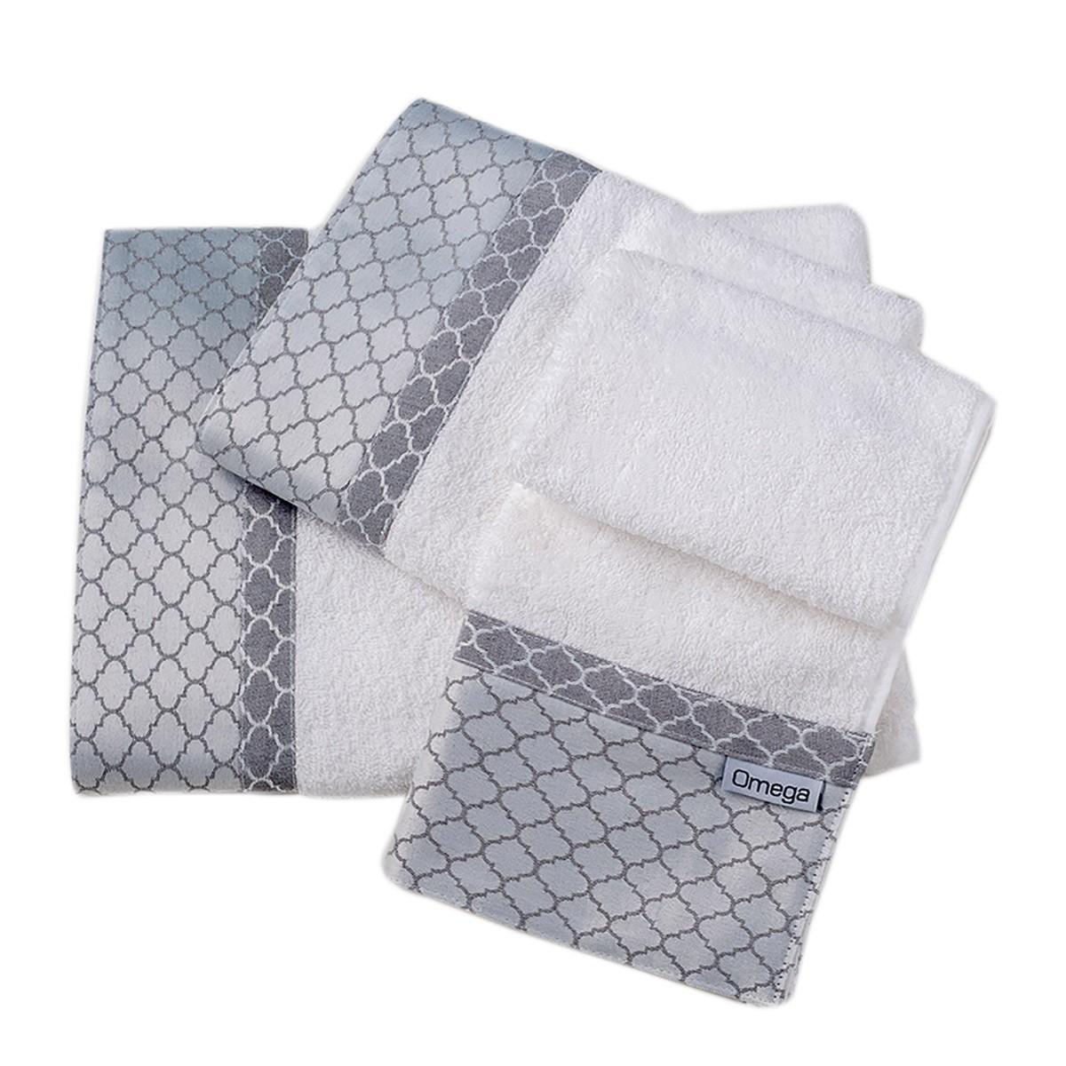 Πετσέτες Μπάνιου (Σετ 3τμχ) Omega Home Des 123
