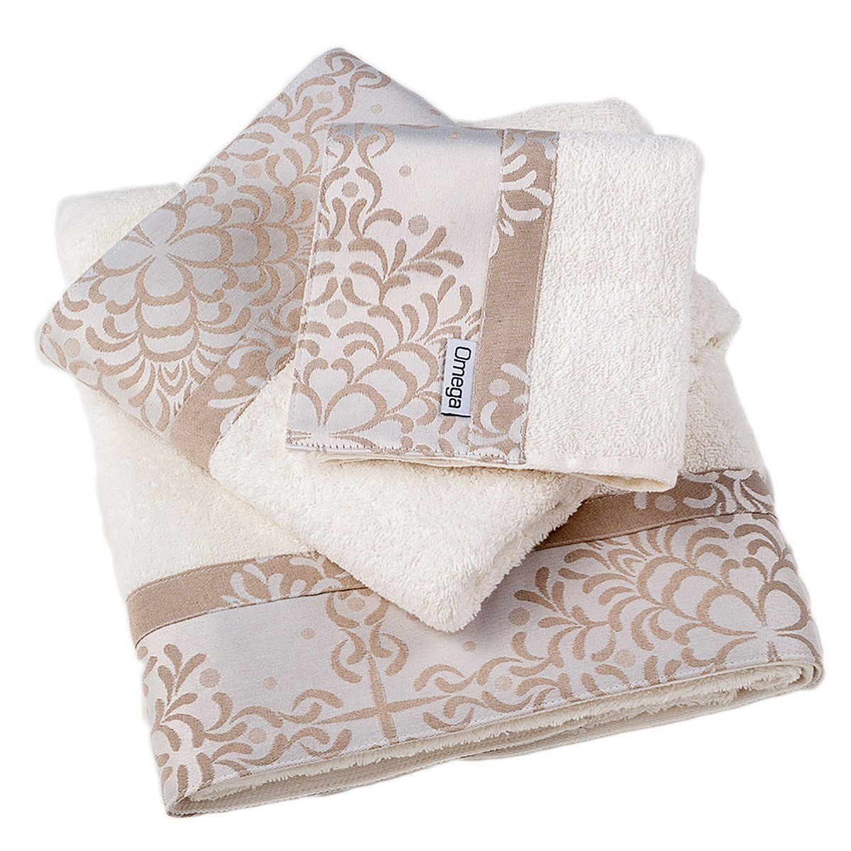 Πετσέτες Μπάνιου (Σετ 3τμχ) Omega Home Des 124