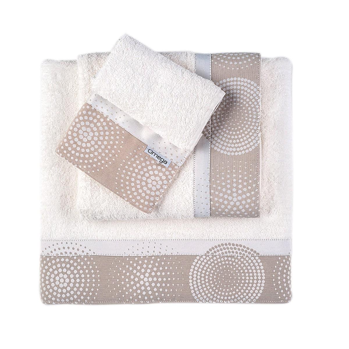Πετσέτες Μπάνιου (Σετ 3τμχ) Omega Home Des 125