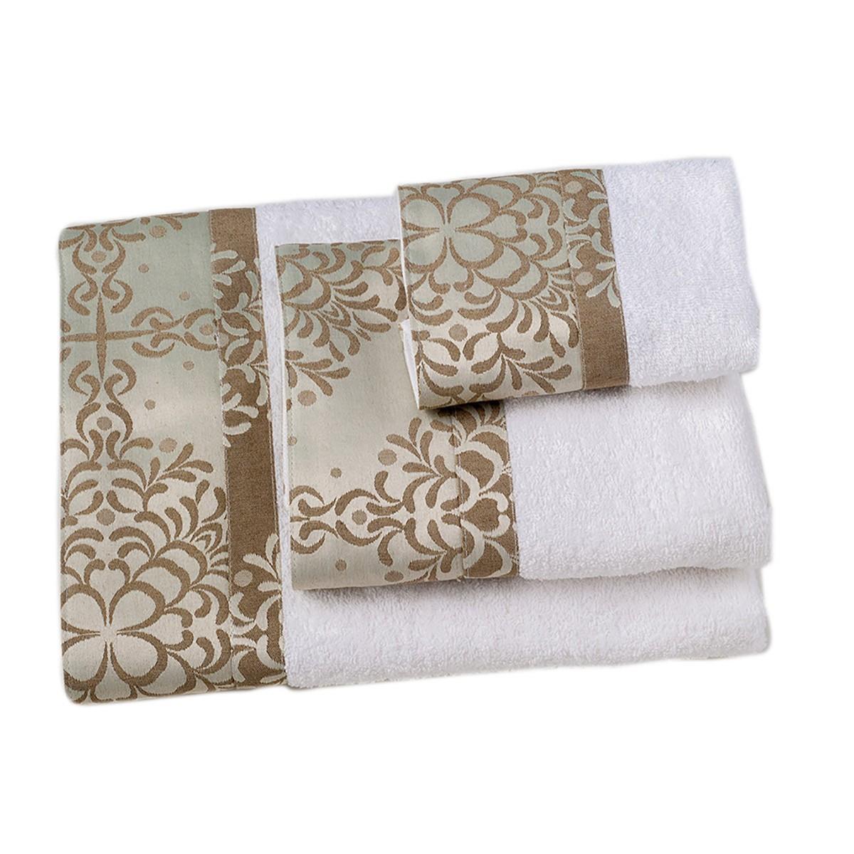 Πετσέτες Μπάνιου (Σετ 3τμχ) Omega Home Des 126