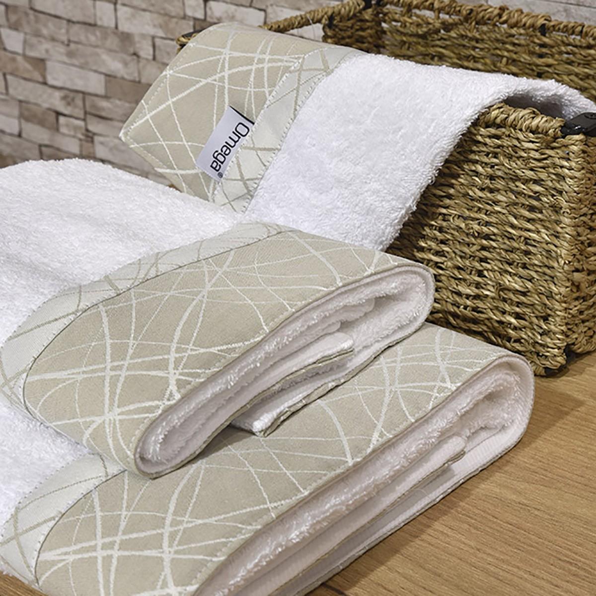 Πετσέτες Μπάνιου (Σετ 3τμχ) Omega Home Des 127