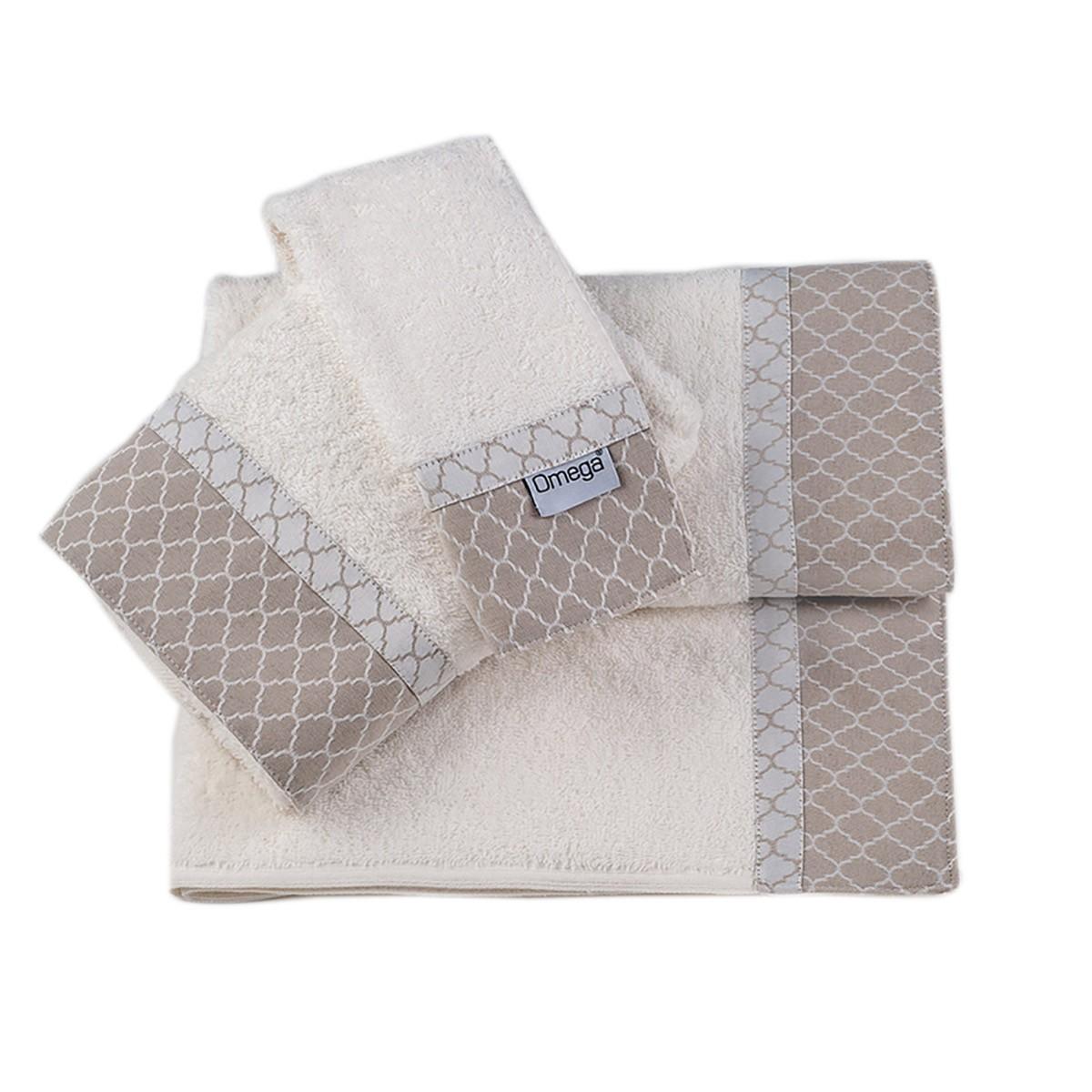 Πετσέτες Μπάνιου (Σετ 3τμχ) Omega Home Des 128