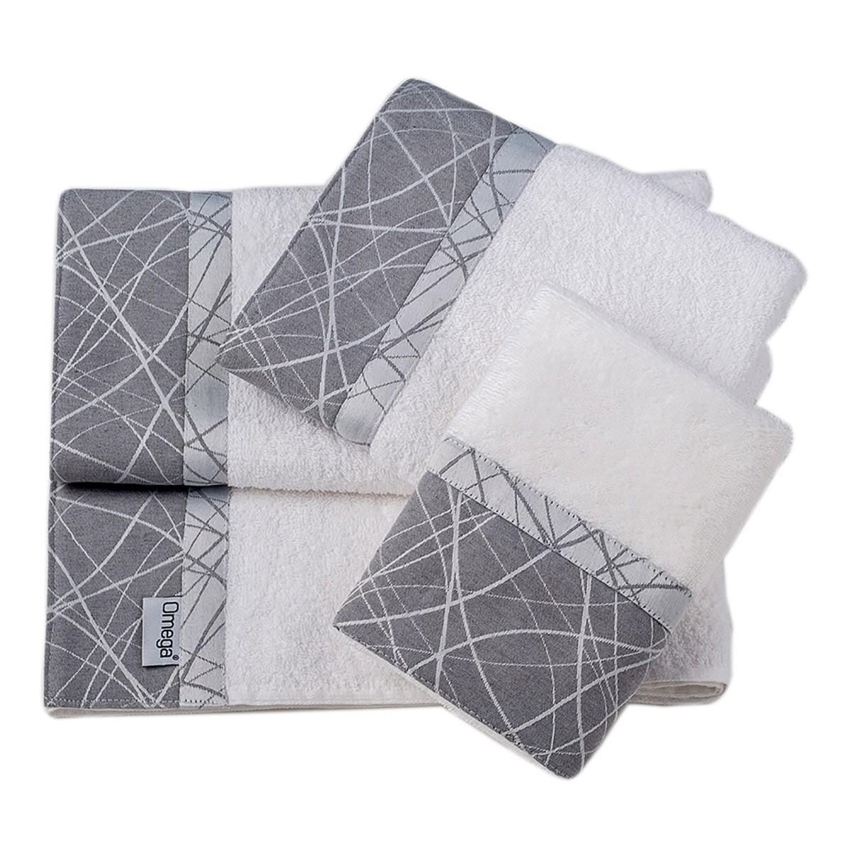 Πετσέτες Μπάνιου (Σετ 3τμχ) Omega Home Des 129