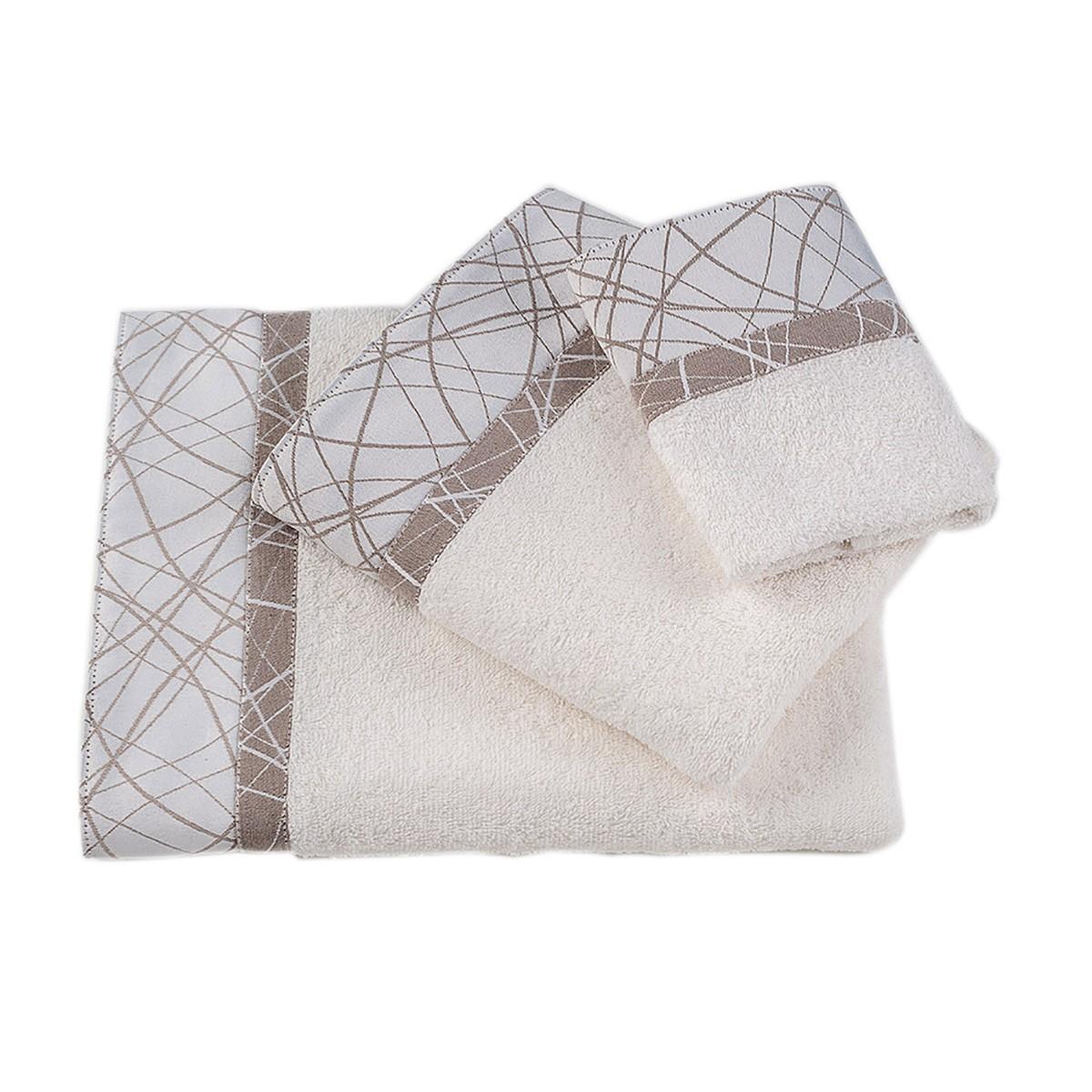 Πετσέτες Μπάνιου (Σετ 3τμχ) Omega Home Des 122
