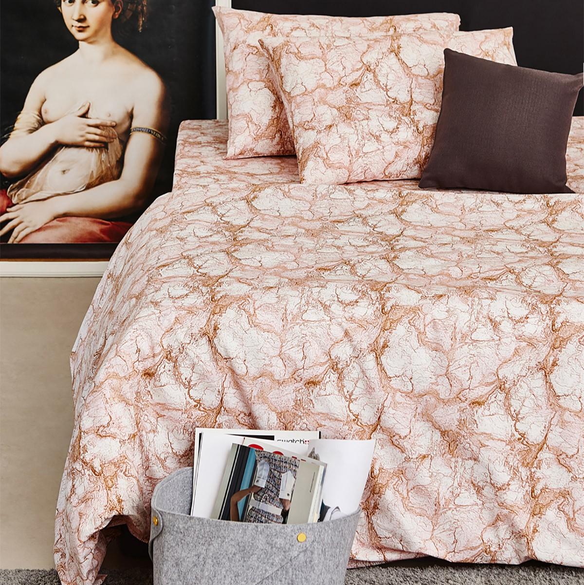 Σεντόνια Διπλά (Σετ) Melinen 13260 Marble Blush home   κρεβατοκάμαρα   σεντόνια   σεντόνια ημίδιπλα   διπλά