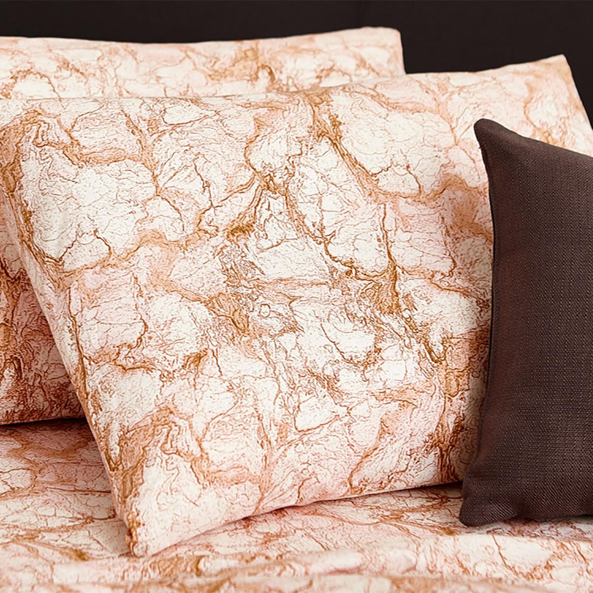 Ζεύγος Μαξιλαροθήκες Melinen 13260 Marble Blush