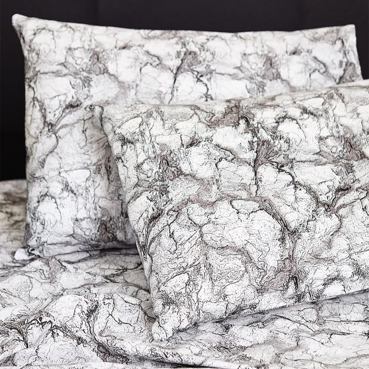 Ζεύγος Μαξιλαροθήκες Melinen 13260 Marble Charcoal