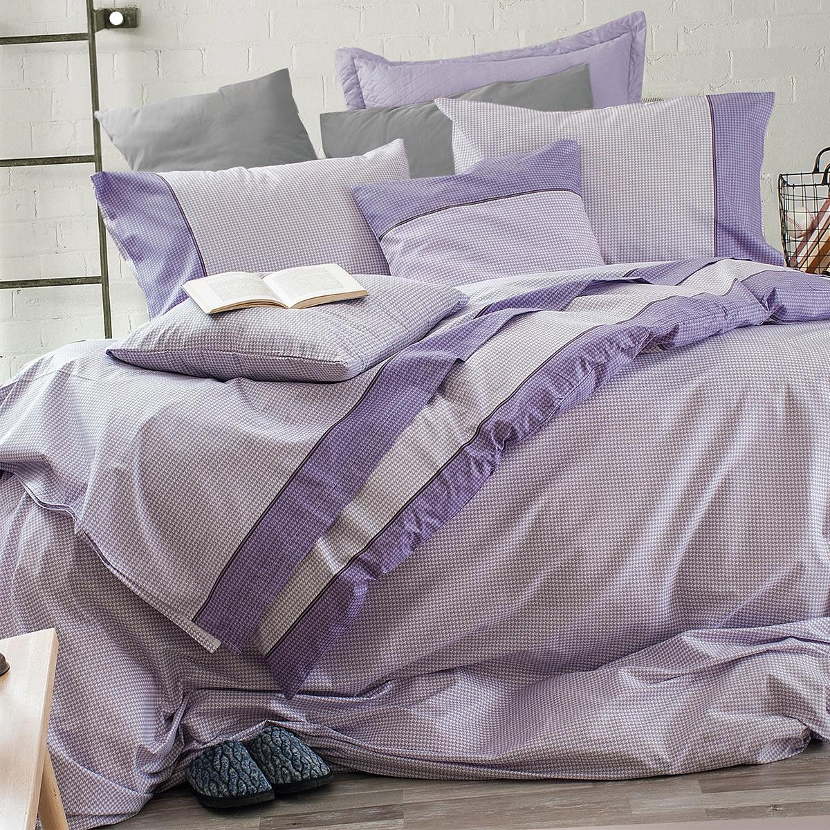 Σεντόνια Υπέρδιπλα (Σετ) Rythmos Next More Purple ΜΕ ΛΑΣΤΙΧΟ 165x205+25 ΜΕ ΛΑΣΤΙΧΟ 165x205+25