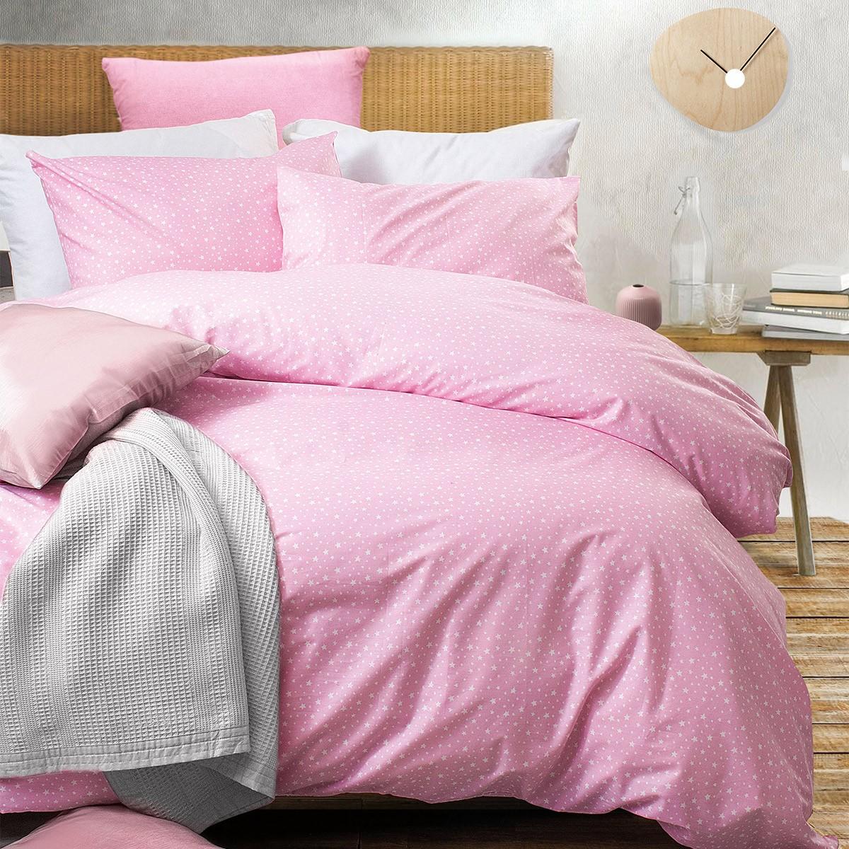 Σεντόνια Υπέρδιπλα (Σετ) Rythmos Symbol Galaxy Pink ΜΕ ΛΑΣΤΙΧΟ ΜΕ ΛΑΣΤΙΧΟ