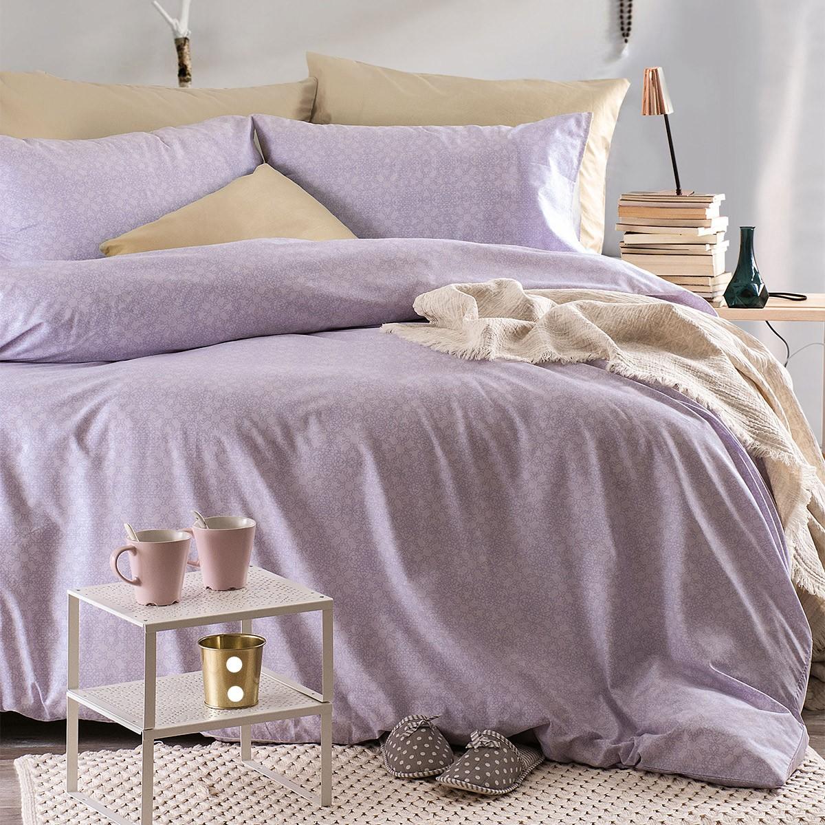 Παπλωματοθήκη Μονή (Σετ) Rythmos Next Bohemian Purple 86550