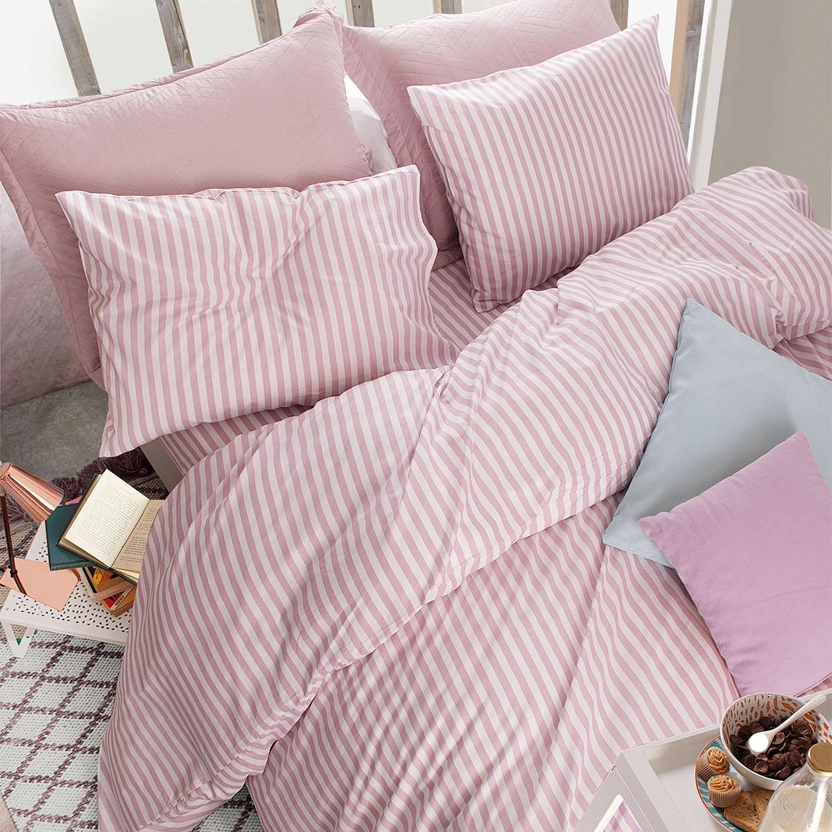 Παπλωματοθήκη Μονή (Σετ) Rythmos Diva Absolute New Pink