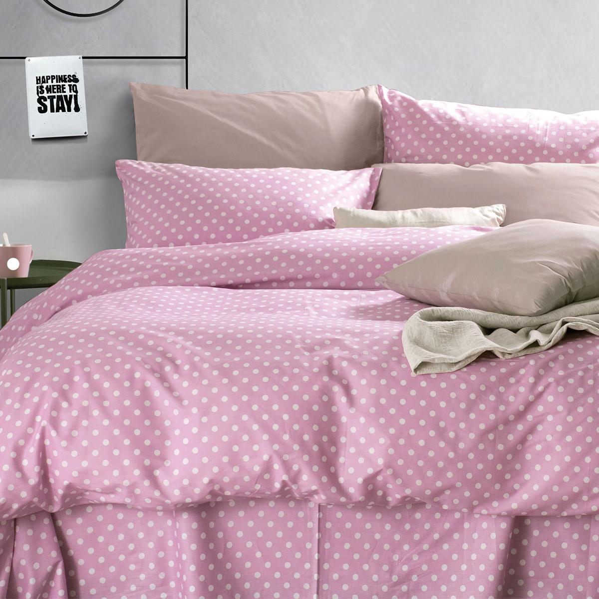 Παπλωματοθήκη Υπέρδιπλη (Σετ) Rythmos Diva Sassy New Pink