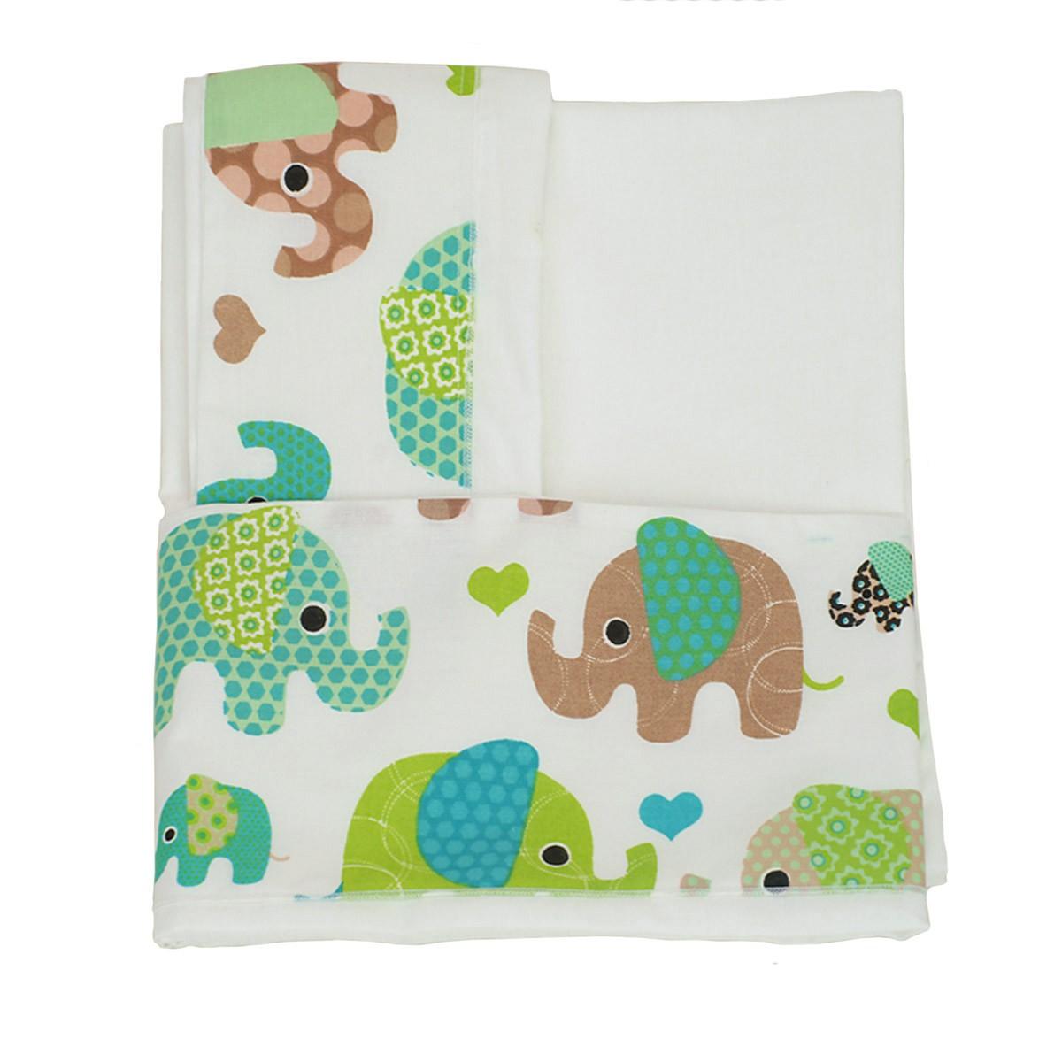 Σεντόνι Κούνιας (Σετ 2τμχ) Ninna Nanna Elephant