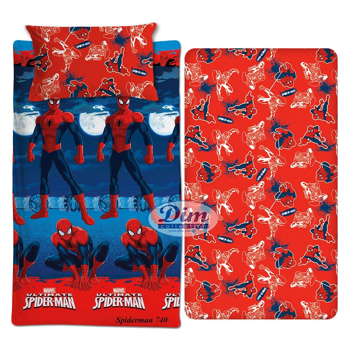 Σεντόνια Μονά (Σετ) Dim Collection Spiderman 740 86653