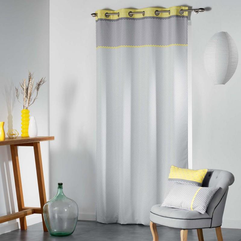 Κουρτίνα (140x260) Με Τρουκς L-C Matik Rideau Jaune 1606985