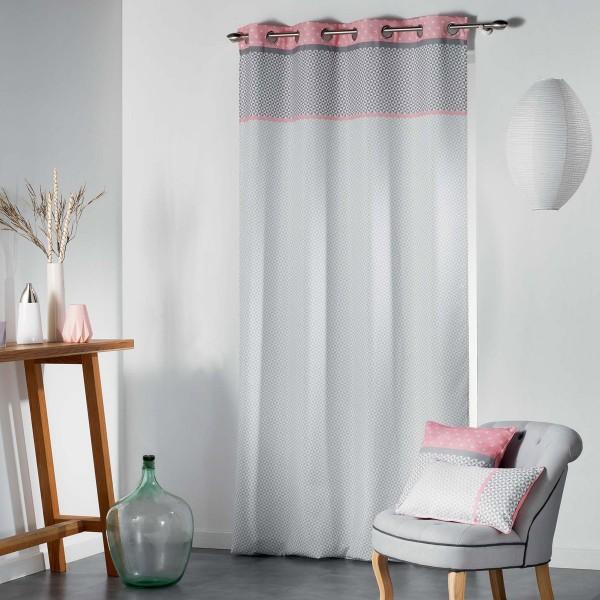 Κουρτίνα (140x260) Με Τρουκς L-C Matik Rideau Rose 1606986