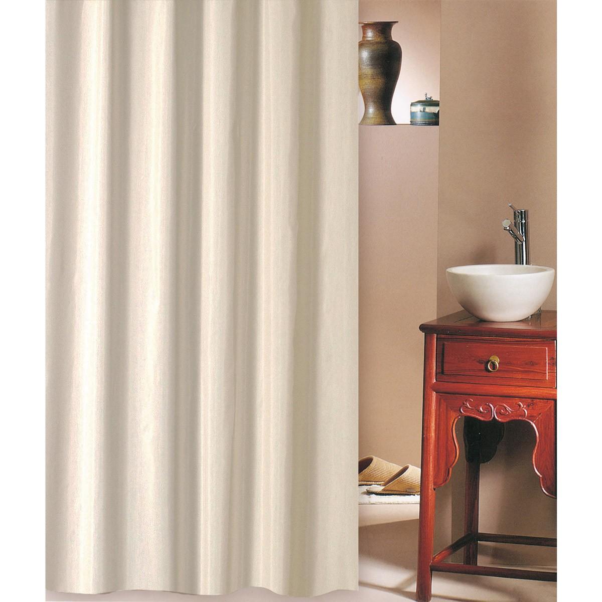 Κουρτίνα Μπάνιου (180×220) San Lorentzo Solid Beige