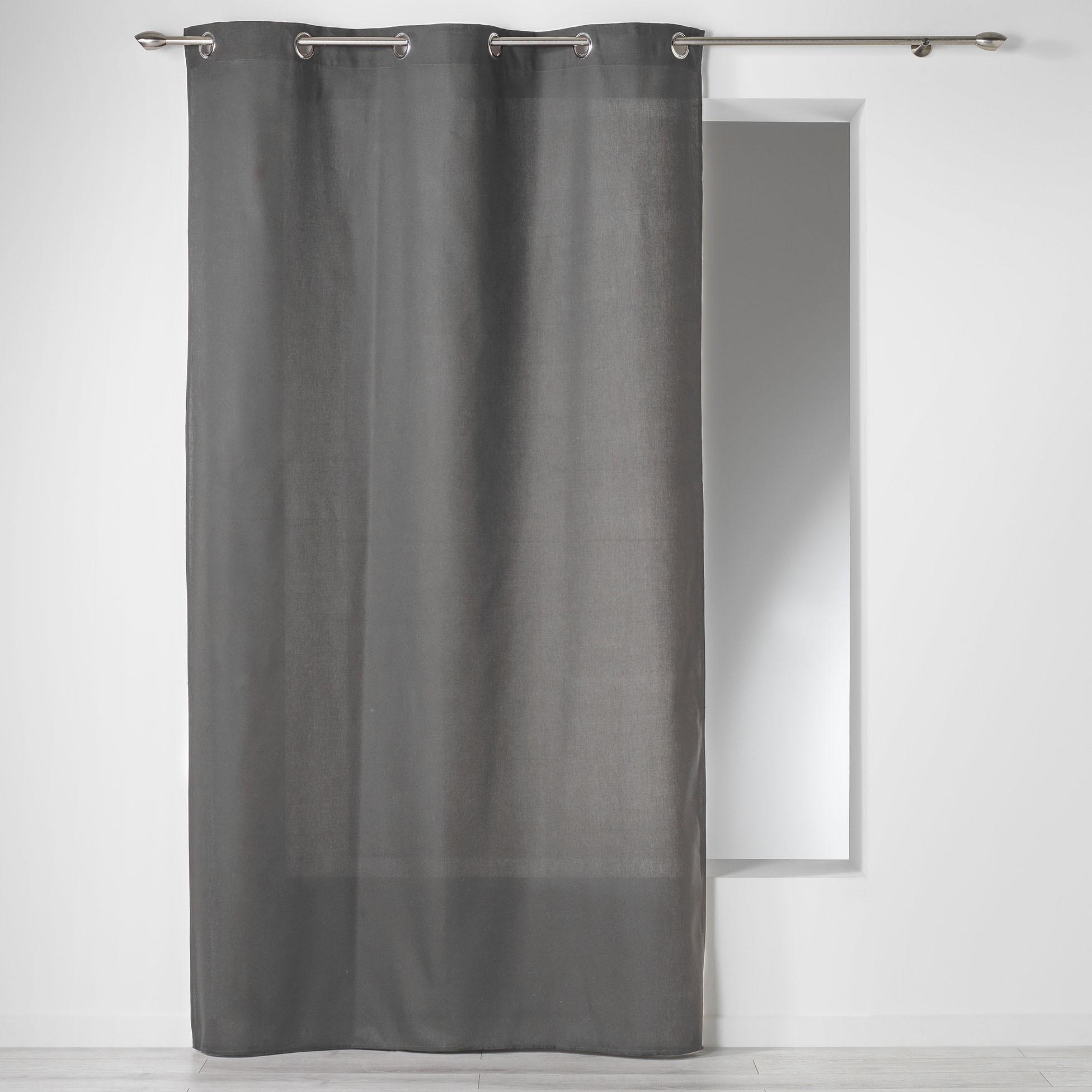 Κουρτίνα (140×240) Με Τρουκς Panama Ardoise 1604617