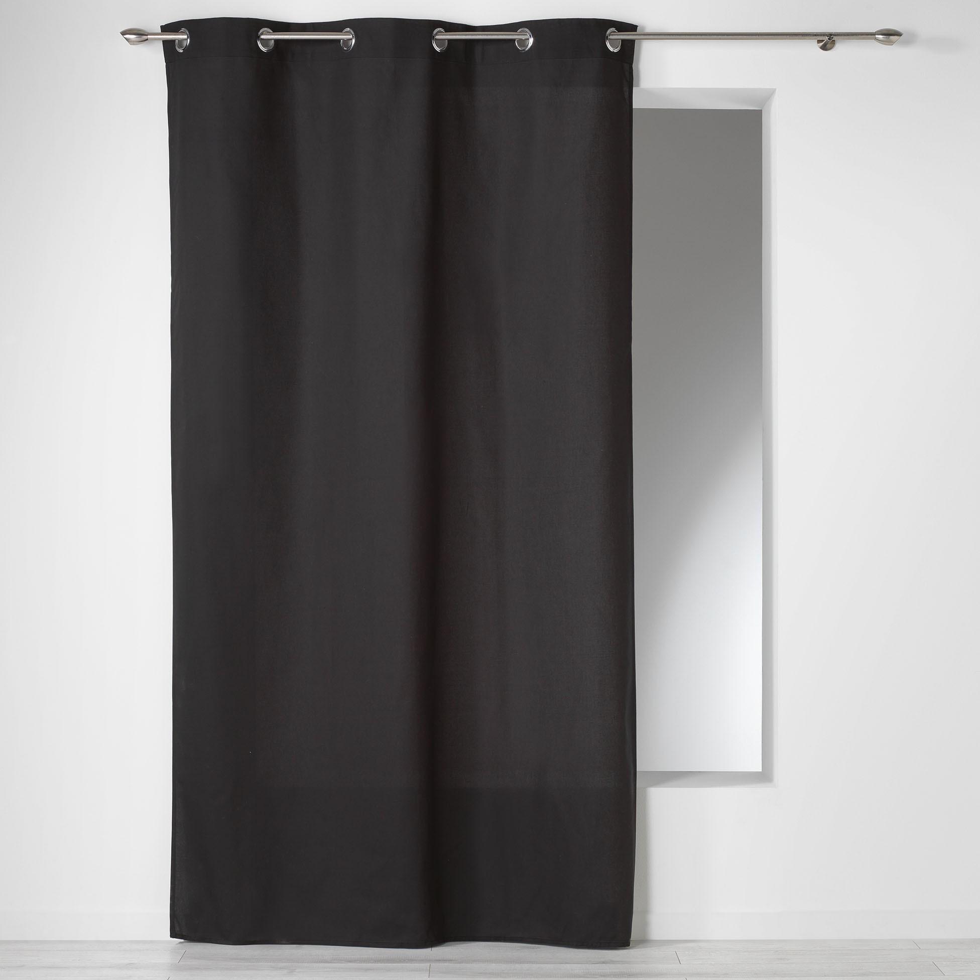 Κουρτίνα (140×240) Με Τρουκς Panama Noir 1604618