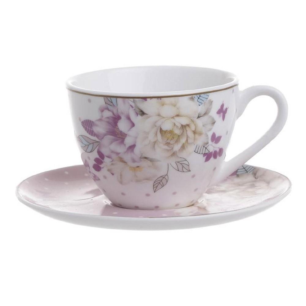 Φλυτζάνια Καφέ + Πιατάκια (Σετ 6τμχ) InArt 3-60-819-0020