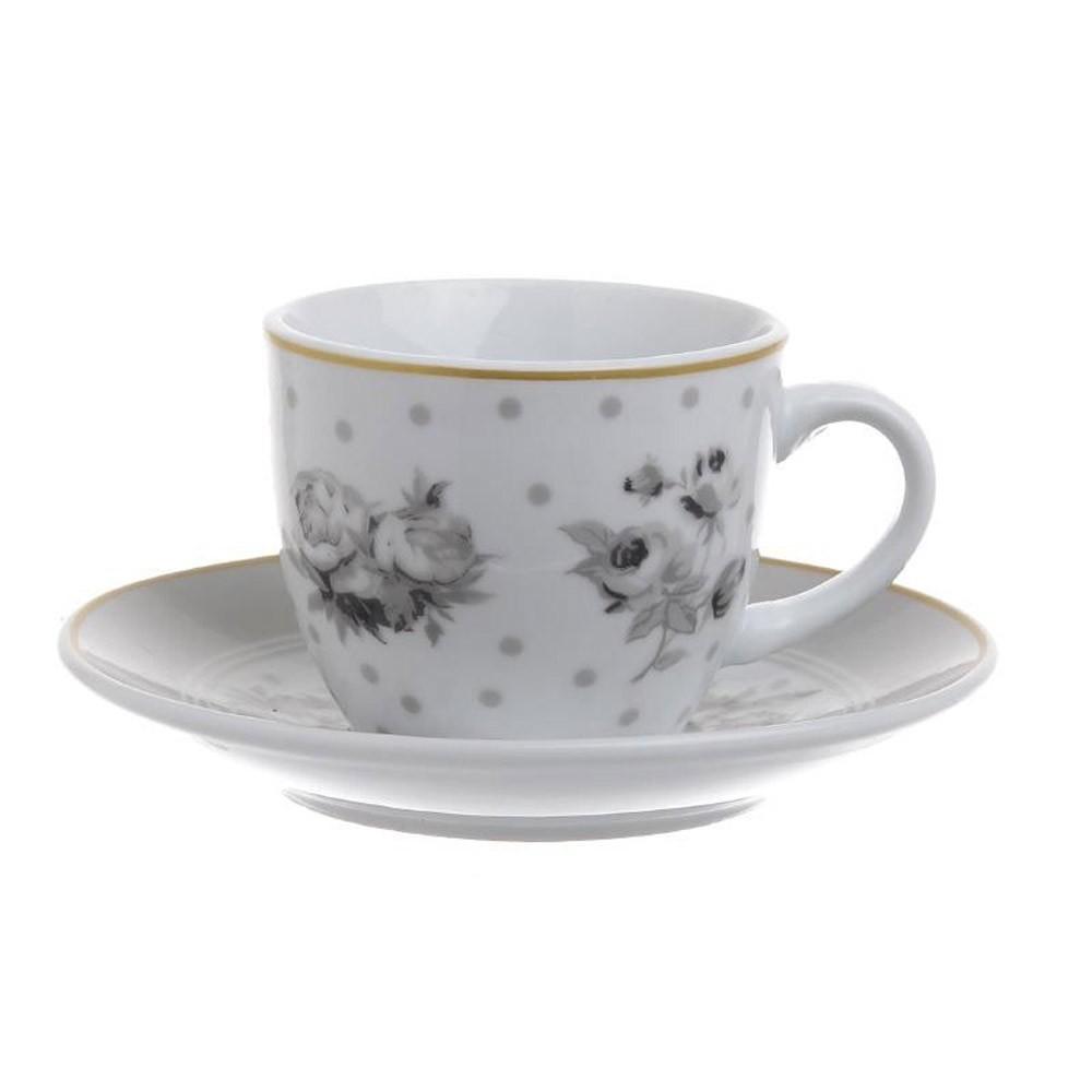 Φλυτζάνια Καφέ + Πιατάκια (Σετ 6τμχ) InArt 3-60-140-0109