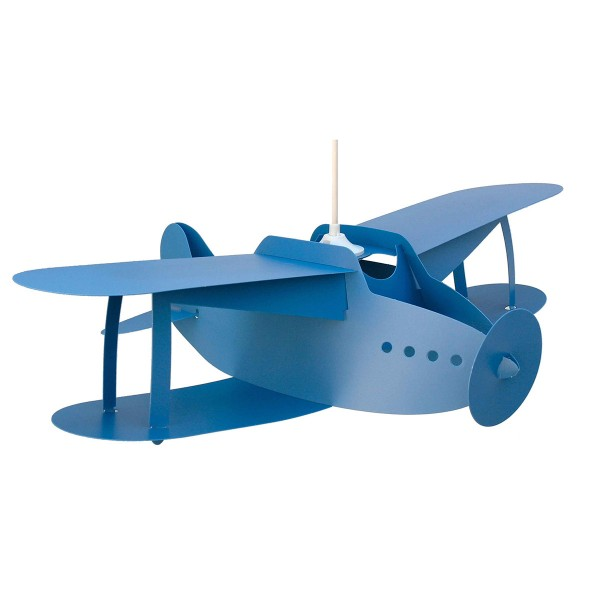 Παιδικό Φωτιστικό Οροφής Μονόφωτο R&M Coudert Αεροπλάνο Μπλε
