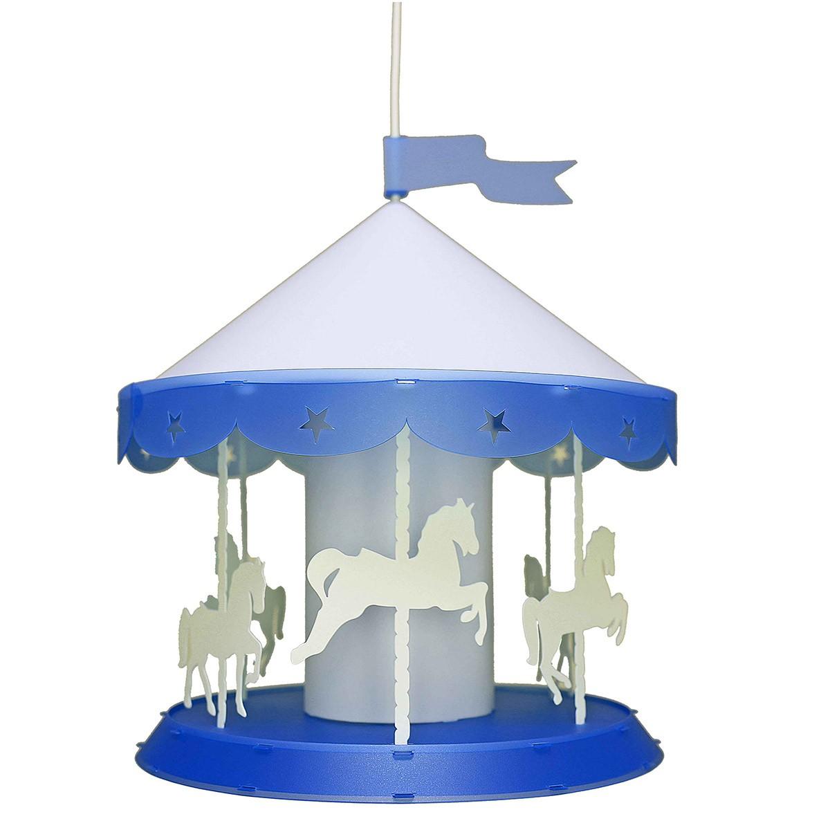 Παιδικό Φωτιστικό Οροφής Μονόφωτο R&M Coudert Καρουζέλ Μπλε