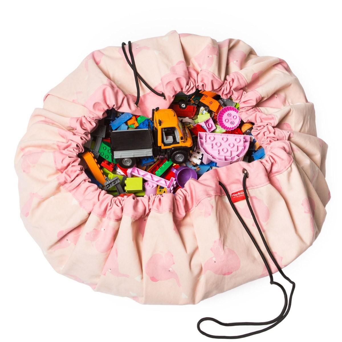Σάκος/Στρώμα Παιχνιδιού Play&Go Pink Elephant