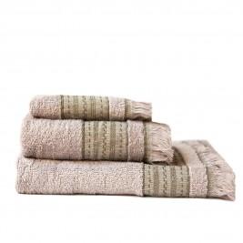 Πετσέτες Μπάνιου (Σετ 3τμχ) Melinen Hammam Ice/Olive