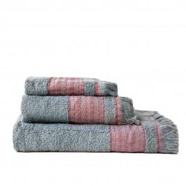 Πετσέτες Μπάνιου (Σετ 3τμχ) Melinen Hammam Stone Blue/Rose