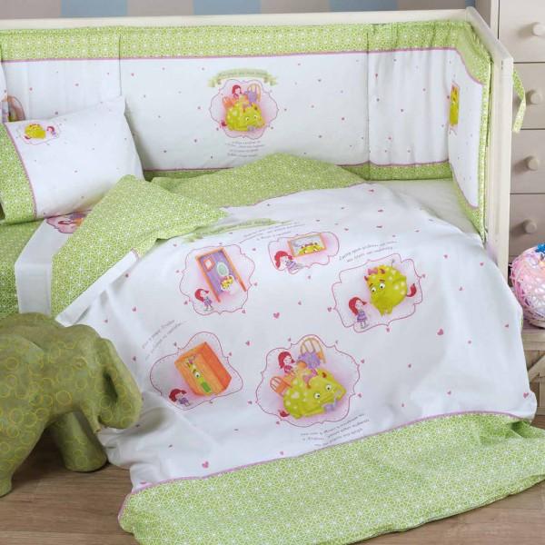 Παπλωματοθήκη Κούνιας (Σετ) Kentia Baby Fairy Tale 14