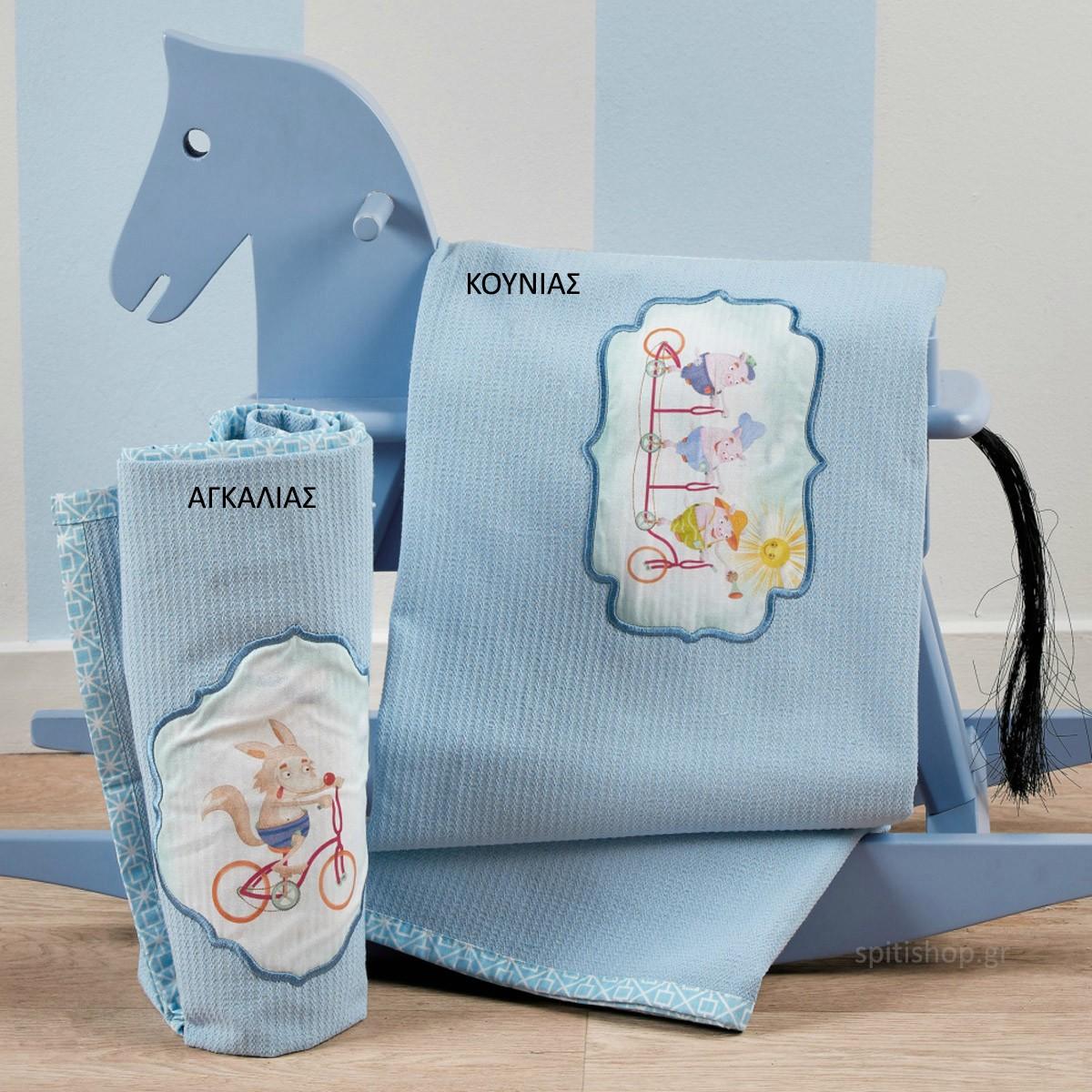 Κουβέρτα Πικέ Αγκαλιάς Kentia Baby Fairy Tale 19