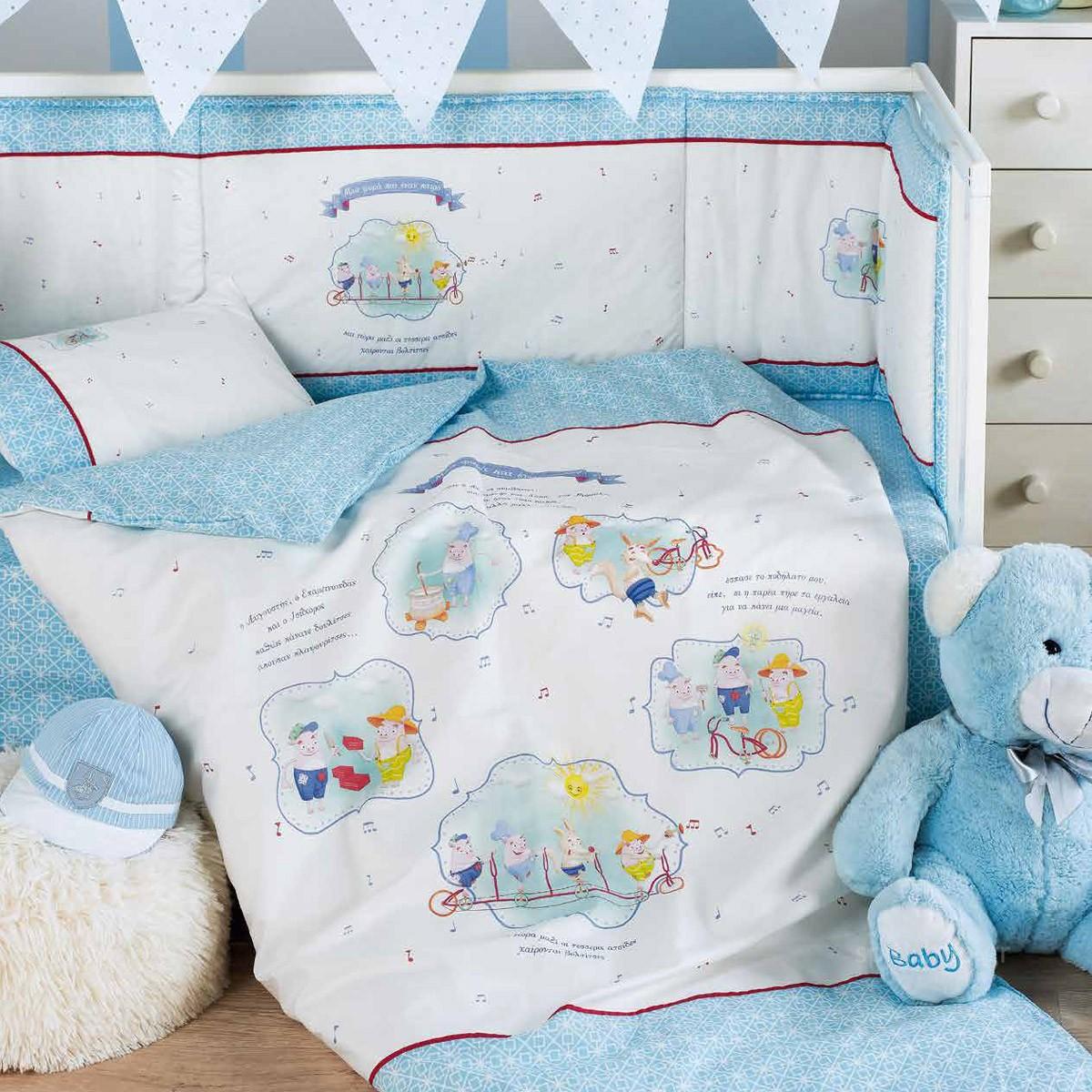 Παπλωματοθήκη Κούνιας (Σετ) Kentia Baby Fairy Tale 19