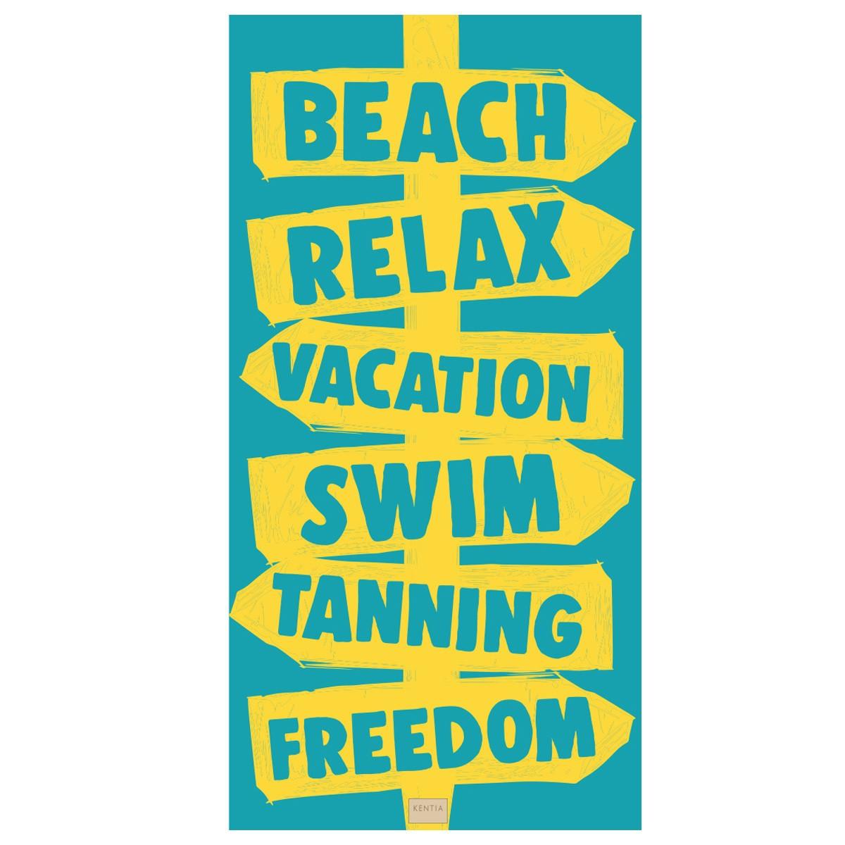 Πετσέτα Θαλάσσης Kentia Sign 07 home   θαλάσσης   πετσέτες θαλάσσης ενηλίκων
