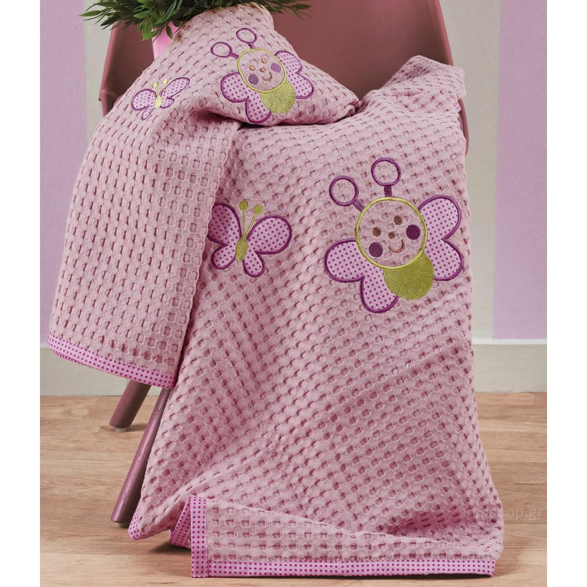 Κουβέρτα Πικέ Κούνιας Kentia Baby Petalouda