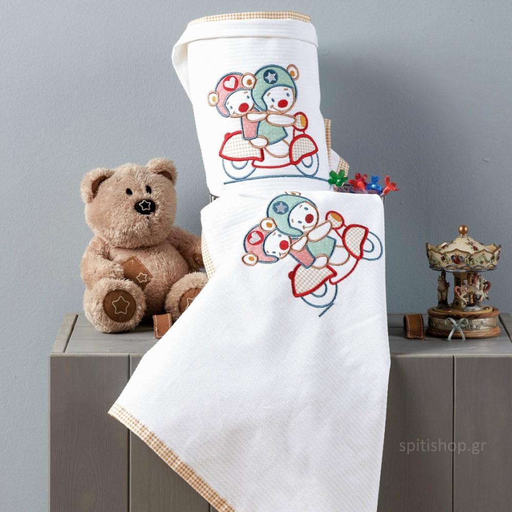 Κουβέρτα Πικέ Αγκαλιάς Kentia Baby Love Baby