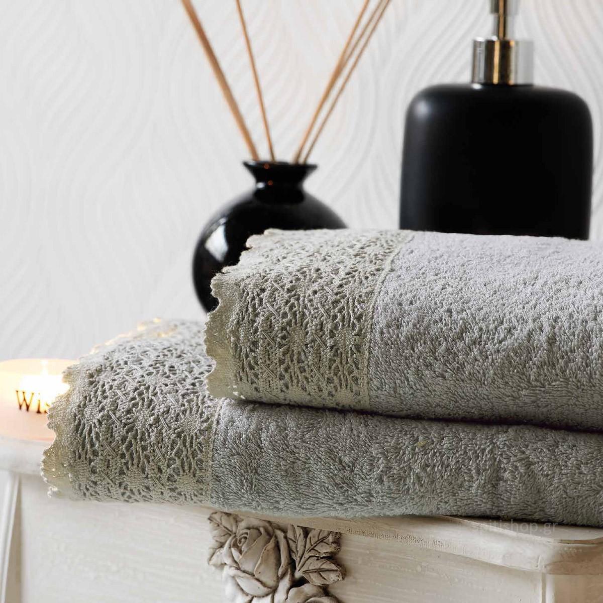 Πετσέτες Μπάνιου (Σετ 3τμχ) Kentia Bath Crochet