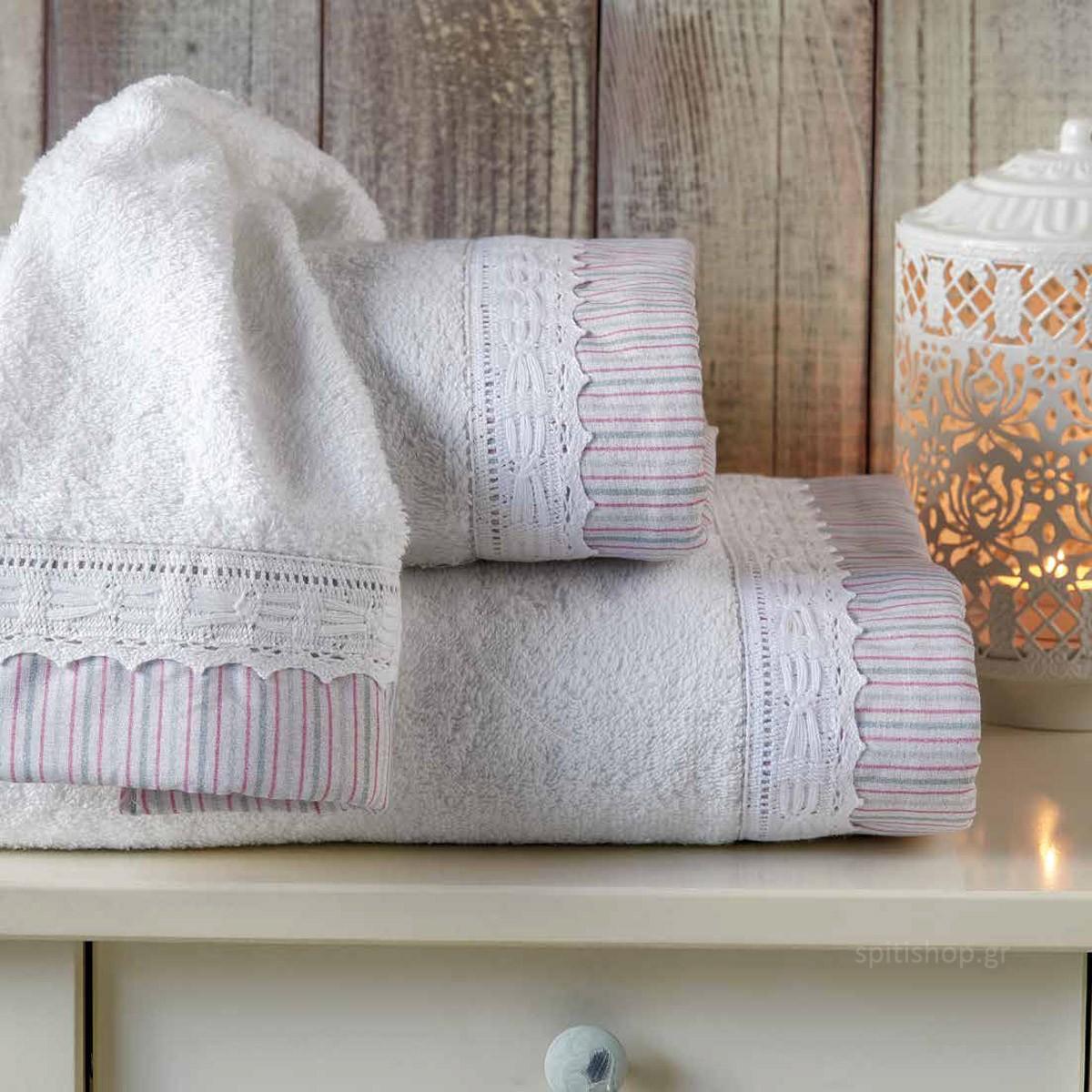 Πετσέτες Μπάνιου (Σετ 3τμχ) Kentia Bath Sylvan 00