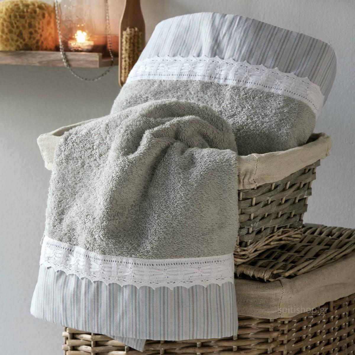 Πετσέτες Μπάνιου (Σετ 3τμχ) Kentia Bath Sylvan 23